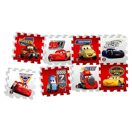 Covor puzzle din spuma Cars 3 Race of a Lifetime 8 piese